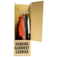 WARDROBE CARTON BOXES 508 X 180 X 1245MM (FOLDED FOR COURIER)