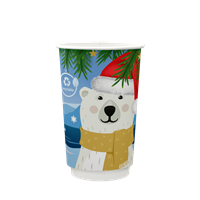 12OZ PLASTIC FREE COMPOSTABLE CHRISTMAS CUP