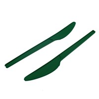 LEAF CPLA COMPOSTABLE DISPOSABLE KNIVES GREEN