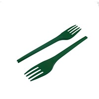 LEAF CPLA COMPOSTABLE DISPOSABLE FORK GREEN