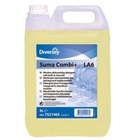 SUMA COMBI+ LA6 2 IN 1 DETERGENT AND RINSE AID 5 LITRE - PACK OF 2