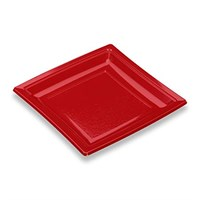BURGUNDY SQUARE PLATE