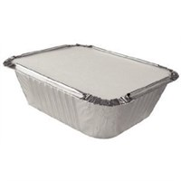 NO.2 TAKEAWAY FOIL TRAY CONTAINER & LID COMBO 4 X 5 INCH