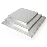 12 INCH SILVER SQUARE CAKE BOARDS