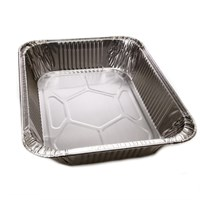 HALF GASTRO SMOOTHWALL ALUMINIUM FOIL TRAY CONTAINER 12 X 10 INCH