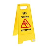 HEAVY DUTY YELLOW WET FLOOR SIGN 24 INCH