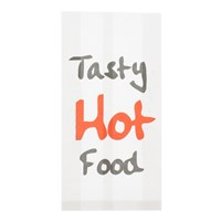 HOT TASTY HOT FOOD BAGS 7 X 14 INCH