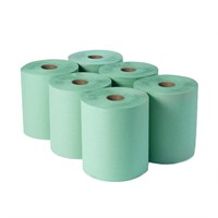 2PLY GREEN DAIRY WIPER PAPER ROLL 23CMX 140MTR 45MM CORE