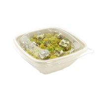SQUARE PULP BOWL 375ML & RECYCLABLE CLEAR LID