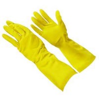 YELLOW HOUSEHOLD RUBBER GLOVES MEDIUM