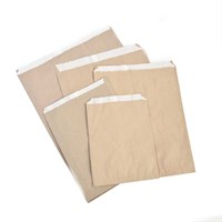 BROWN LINED PAPER CHIP BAG  2LB 7 X 9.5 INCH