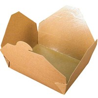 NO. 12 1000ML LEAF LEAKPROOF BROWN KRAFT FOOD BOXES