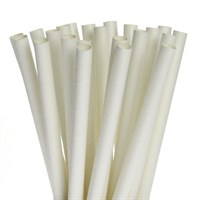 LEAFWARE WHITE COMPOSTABLE PAPER STRAW