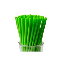GREEN STRAIGHT BIODEGRADABLE STRAWS
