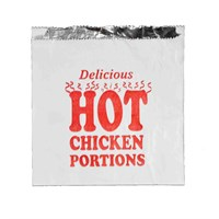 Chicken Portions Hot Food Foil Bag 7 X 9 X 7 Inch