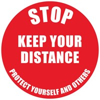 KEEP YOUR DISTANCE NON-SLIP PVC FLOOR STICKER
