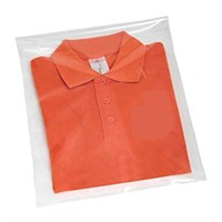 PP SELF SEAL GARMENT BAGS AIR HOLES AND WARNING NOTICE