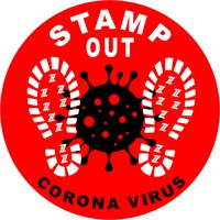 STAMP OUT NON-SLIP PVC FLOOR STICKER