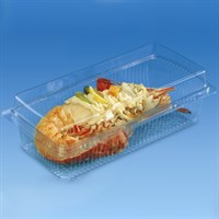 TRAITIPACK RECTANGULAR PLASTIC PASTRY CONTAINER WITH AIR TIGHT SEAL