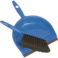 PLASTIC DUSTPAN SET BLUE